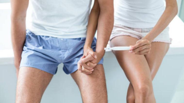 couple test de grossesse avant un enfant