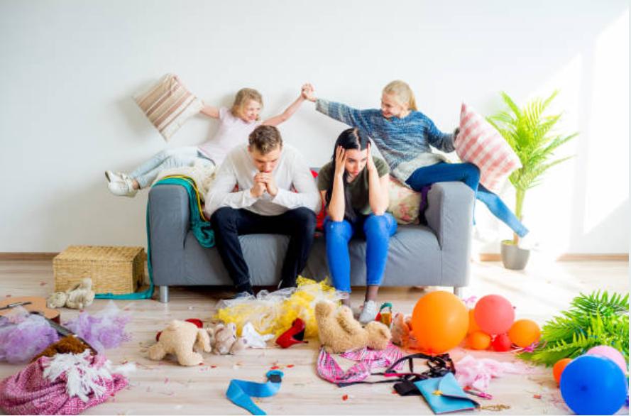 parents débordés dépression burn-out parental enfants bazar fatigué épuisé