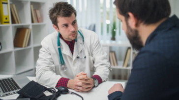 homme rendez-vous médical médecin don de sperme