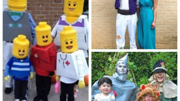 Collage déguisements famille