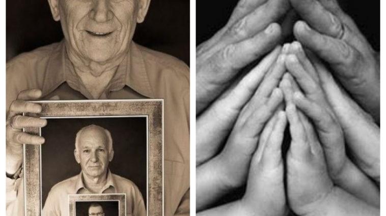 Collage photos famille originales