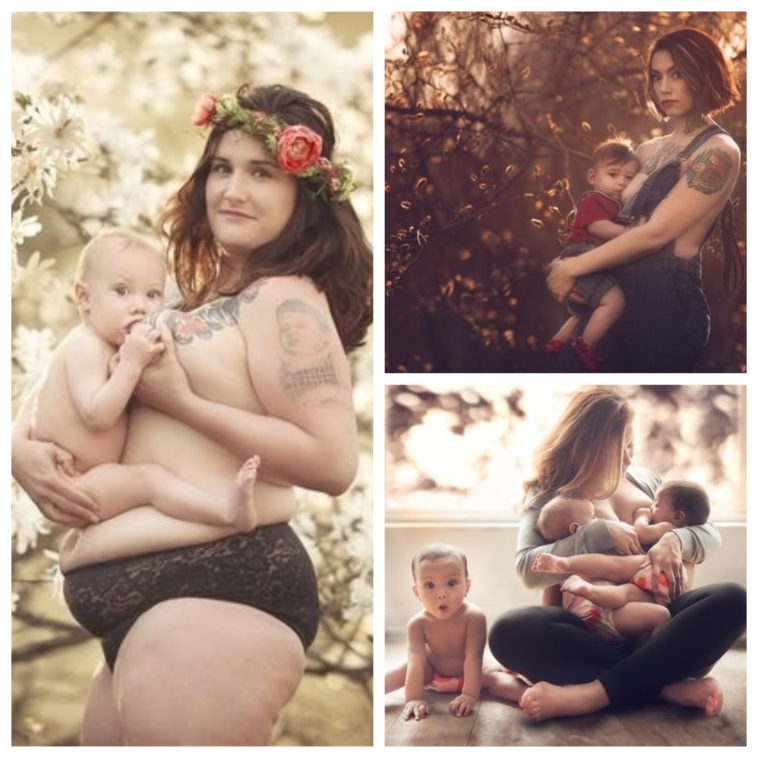 Collage photos allaitement