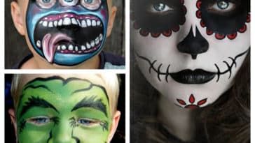 Collage maquillages enfants Halloween