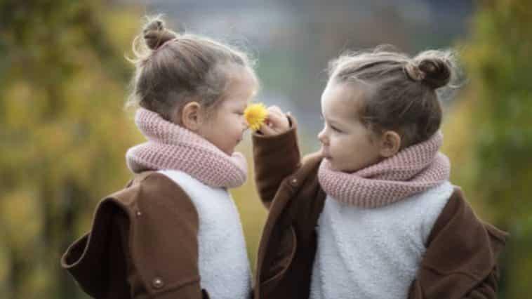 jumeaux jumelles filles enfant hiver manteaux