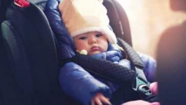 bébé voiture manteau blouson hiver froid sécurité siège auto