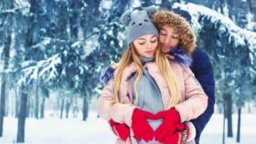neige grossesse enceinte ski station sports d'hiver couple parents papa maman