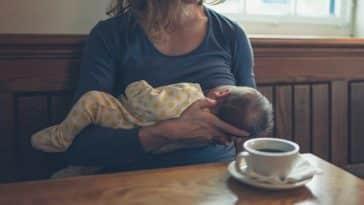 allaitement caféine café lait maternel mère maman enfant bébé nourrisson bar restaurant