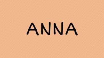 prénom Anna