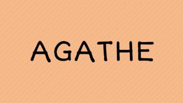 prenom Agathe