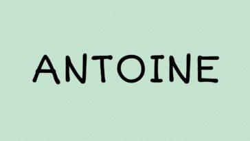 prénom Antoine