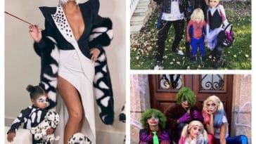 collage célébrités halloween
