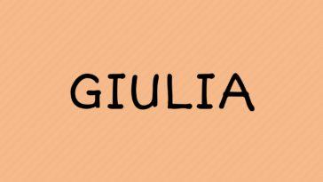 prénom Giulia