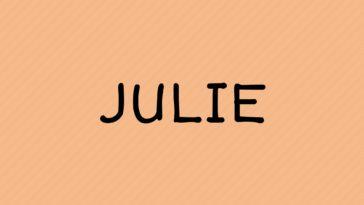 prénom Julie