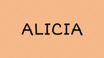 prénom Alicia