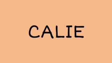 prénom Calie