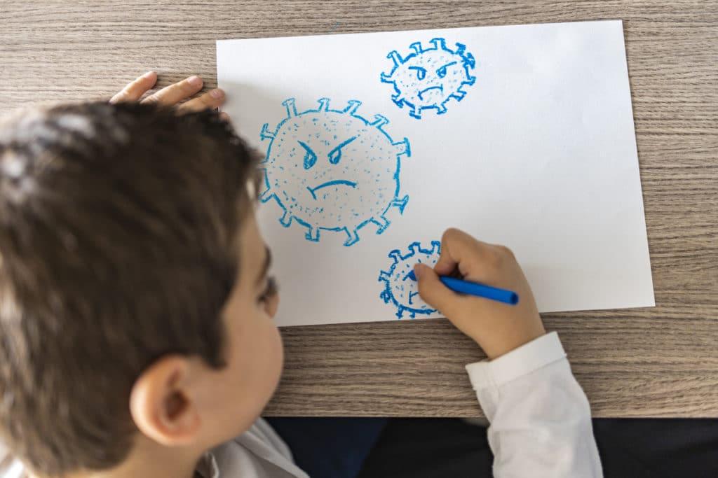 coronavirus école maladie virus enfant écrire épidémie pandémie