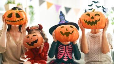 halloween décorations famille citrouille peur fête octobre horreur