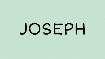 prénom joseph